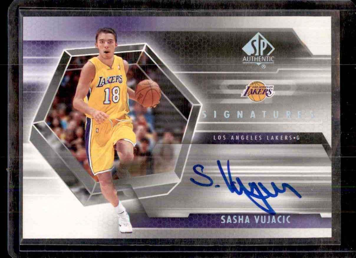 2004-05 SP Authentic Signatures Sasha Vujacic #SV card front image