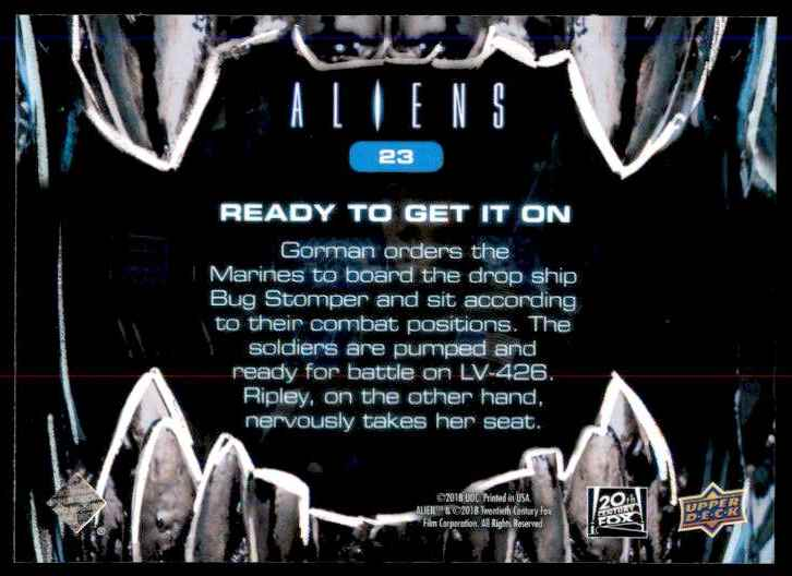 2018 Aliens Ready To Get It On #23 card back image
