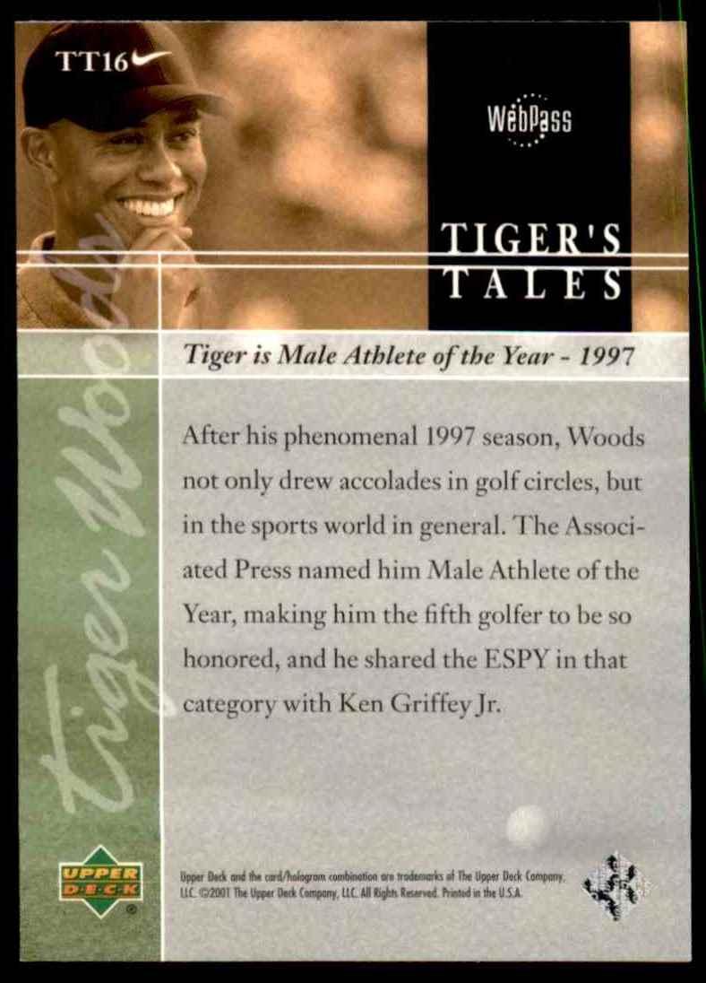 2001 Upper Deck Tiger's Tales Tiger Woods #TT16 card back image
