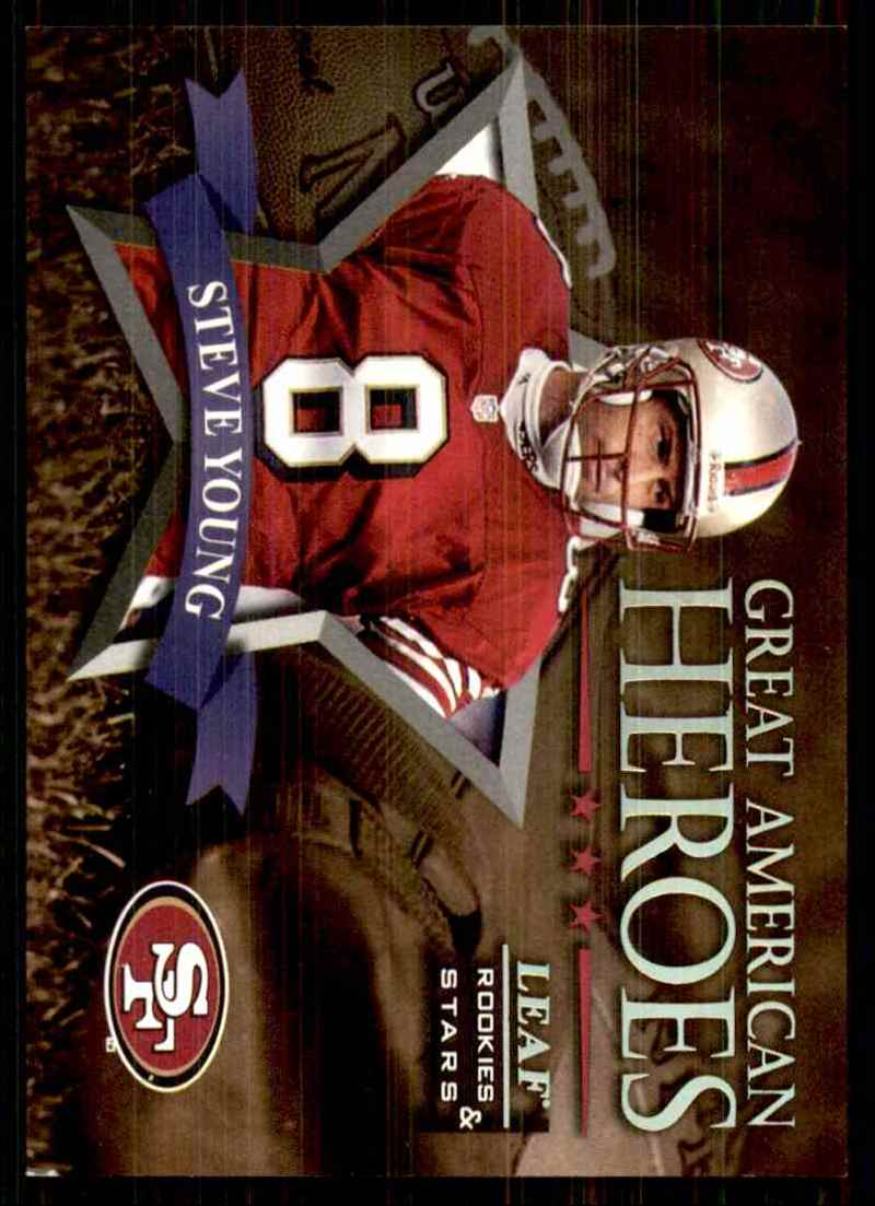 1998 Leaf Rookies & Stars Great American Heroes Steve Young #15 card front image