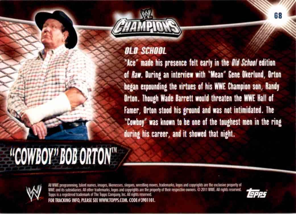 2011 Topps Wwe Champions Cowboy Bob Orton #68 card back image