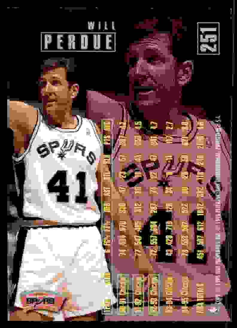 1995-96 Fleer Will Perdue #251 card back image