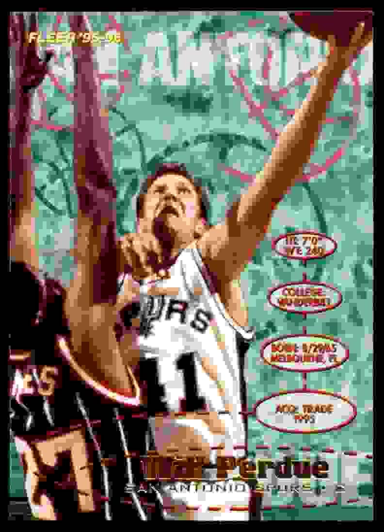 1995-96 Fleer Will Perdue #251 card front image