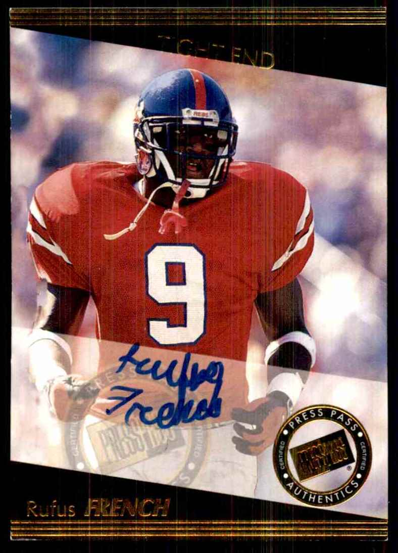 1999 Press Pass Autographs Rufus French #39 card front image