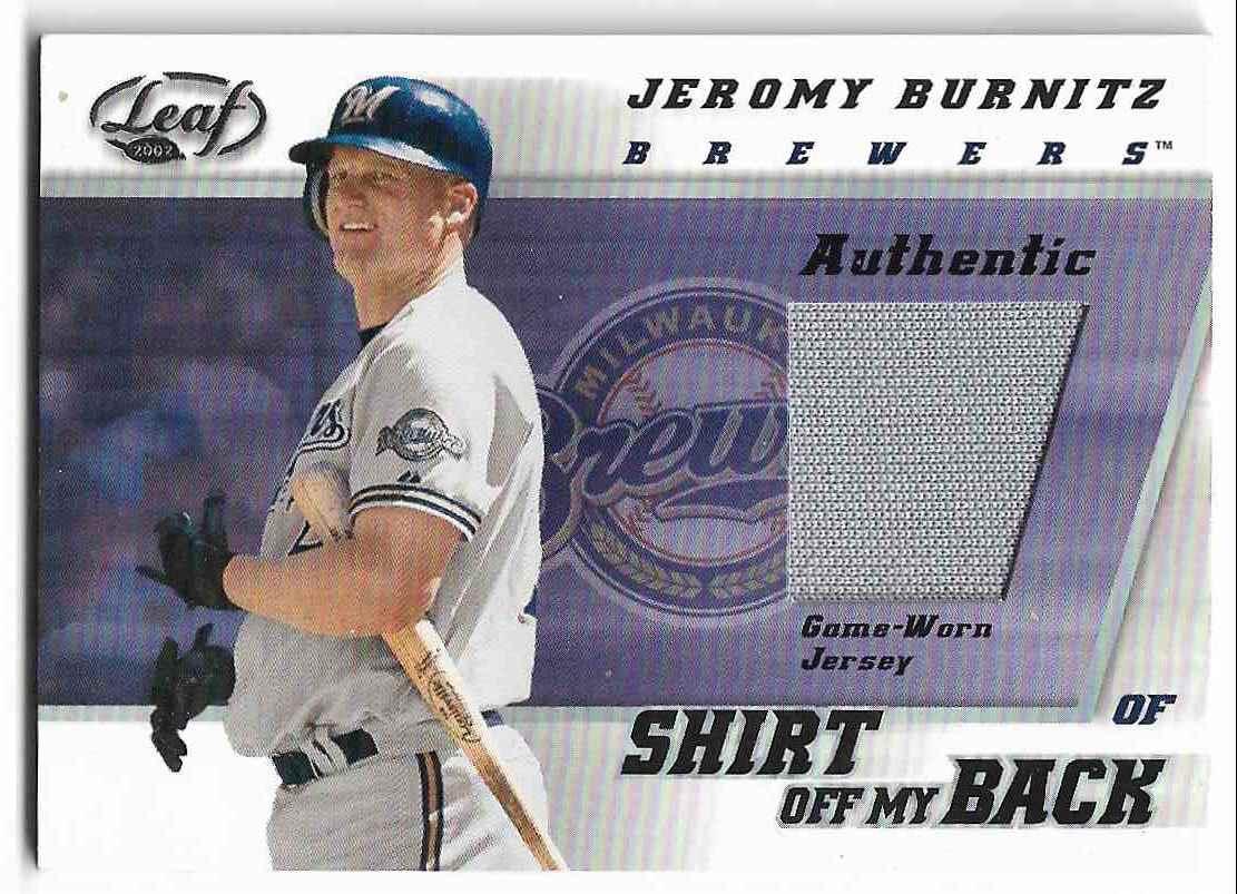 2002 Leaf Jeromy Burnitz #SB-JBU card front image
