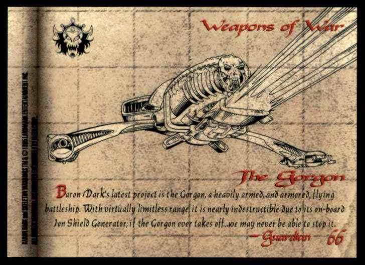 1995 Skeleton Warriors Ultra Fleer The Gorgon #66 card back image