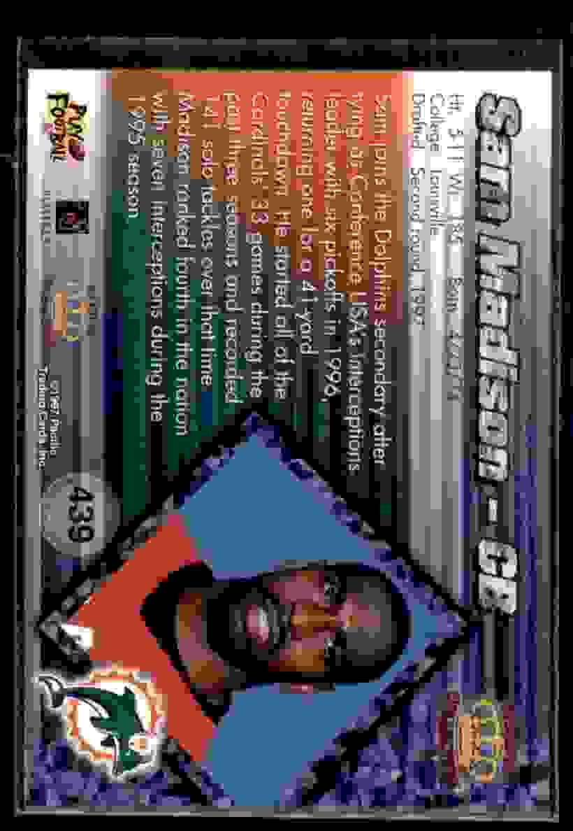 1997 Pacific Sam Madison #439 card back image