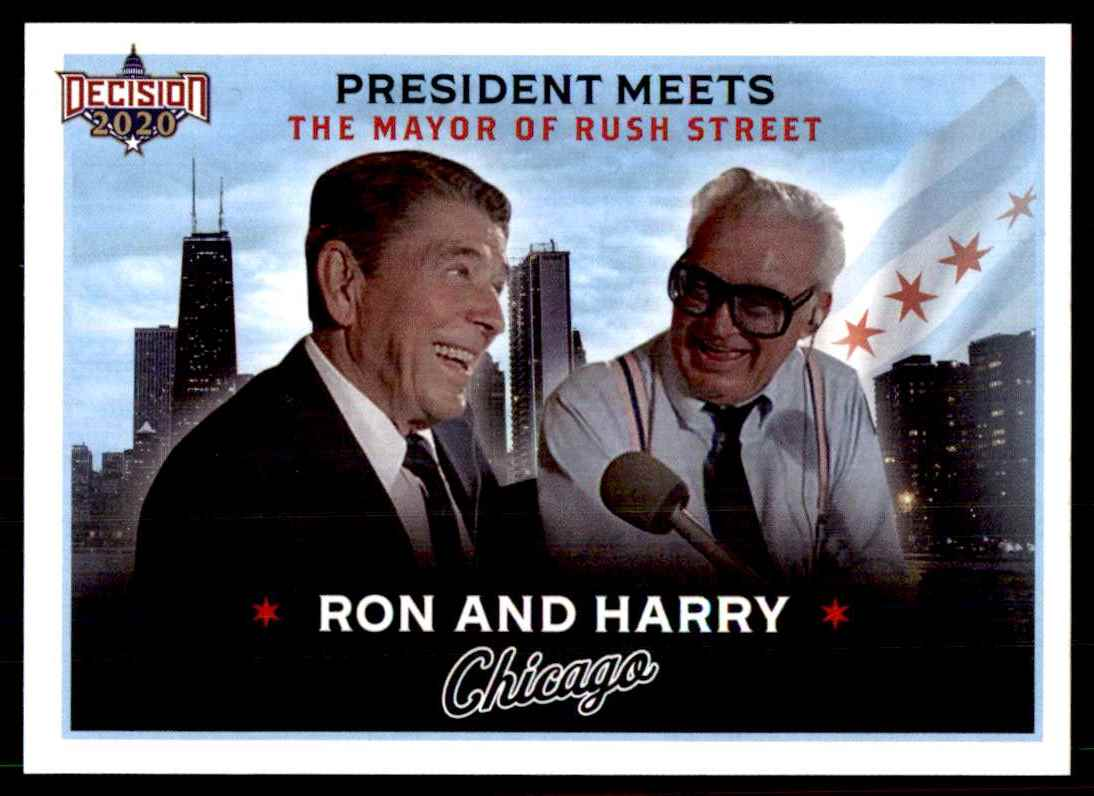 2020 Decision Chicago Poltiics Ronald Reagon And Harry Caray #SP-1 card front image