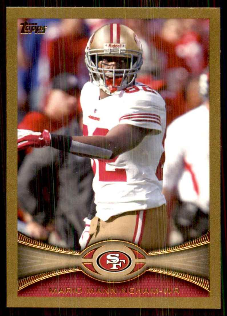 2012 Topps Gold Mario Manningham #426 card front image