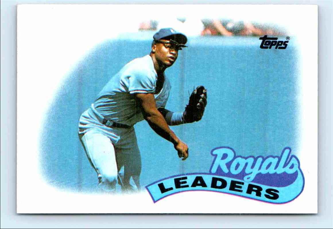 1989 Topps Royals Leaders Bo Jackson 789 On Kronozio