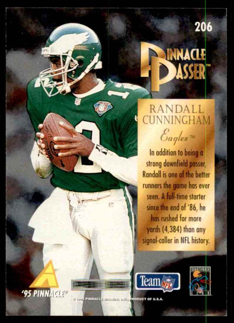 1995 Pinnacle Randall Cunningham Pp #206 card back image