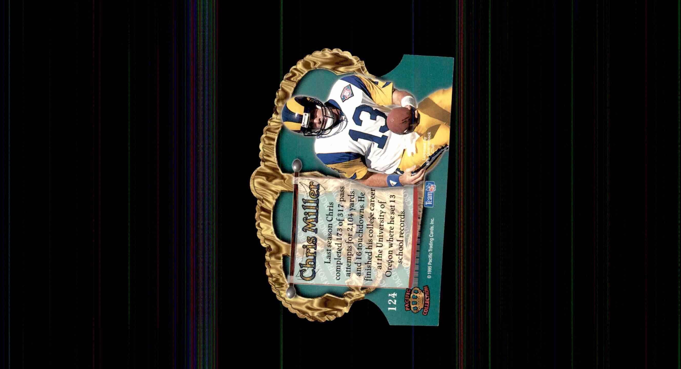 1995 Crown Royale Chris Miller #124 card back image