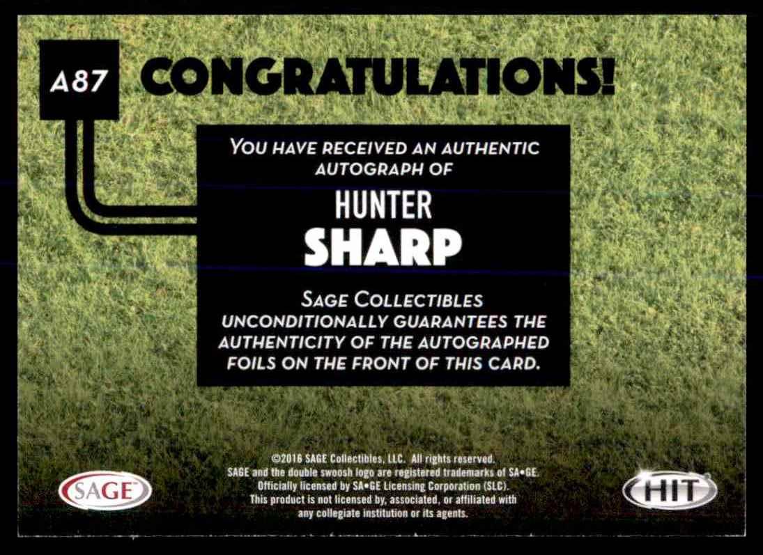 2016 Sage Hit Hunter Sharp card back image