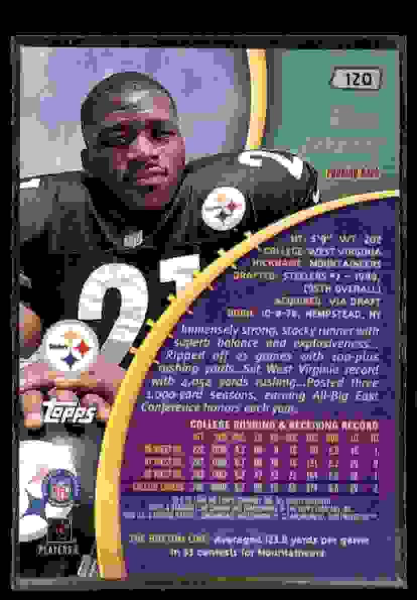 1999 Stadium Club Chrome Amos Zereoue #120 card back image