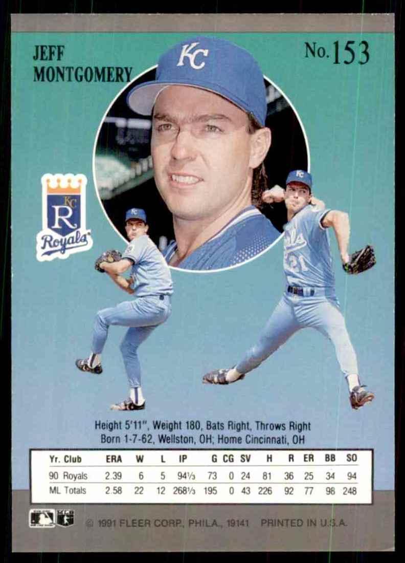 1991 Ultra Jeff Montgomery #153 card back image