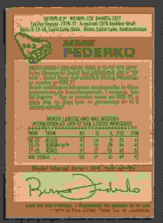 1978-79 O-Pee-Chee Hockey Bernie Federko #143 card back image