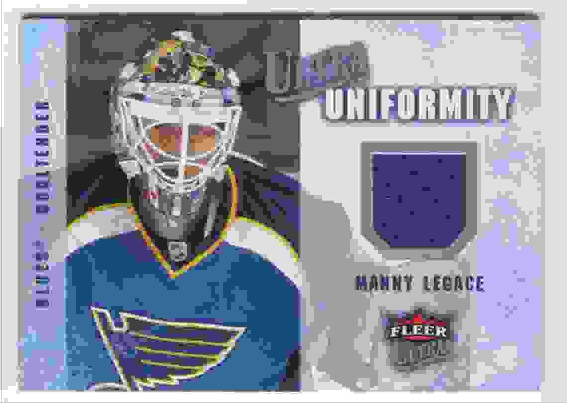 2008-09 Fleer Ultra Ultra Uniformity Manny Legace #UA-ML card front image