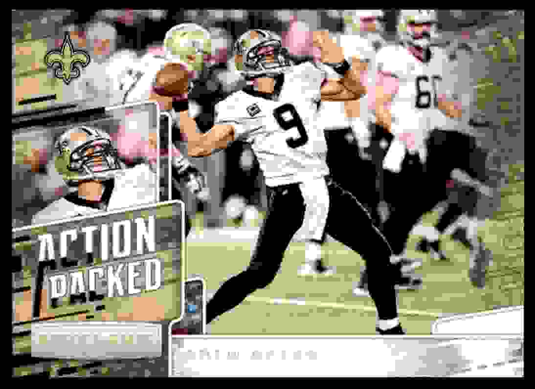 2018 Rookies & Stars Action Packed Drew Brees #AP-9 card front image