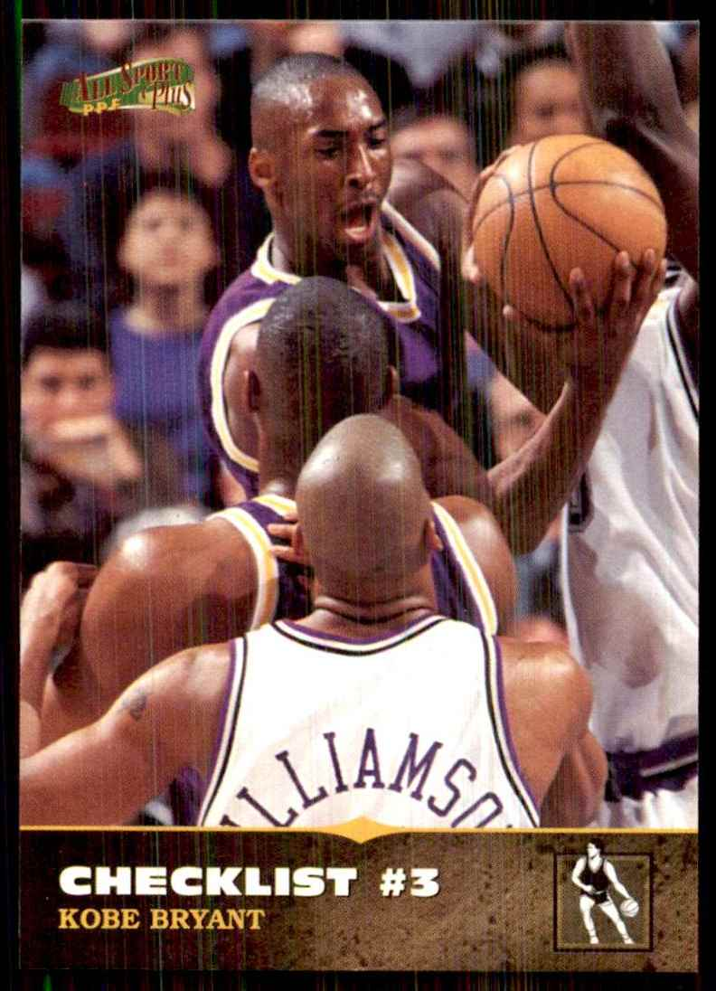1996-97 Score Board All Sport Ppf Kobe Bryant CL #150 card front image