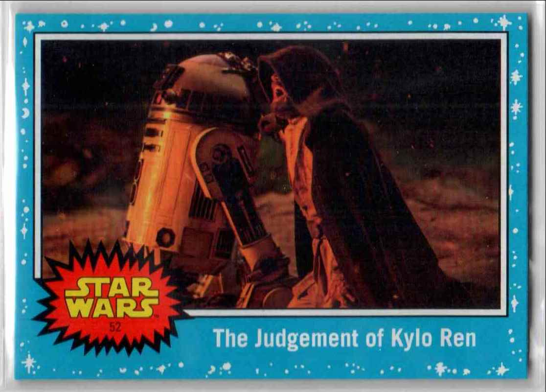 2019 Topps Star Wars Journey To Rise Of Skywalker The Judgement Of Kylo Ren #52 card front image