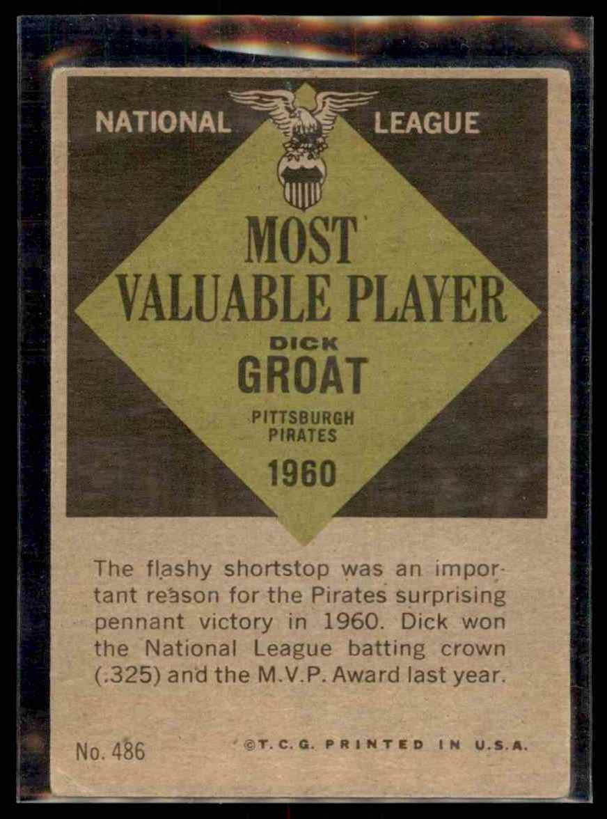 1961 Topps Dick Groat #486 card back image