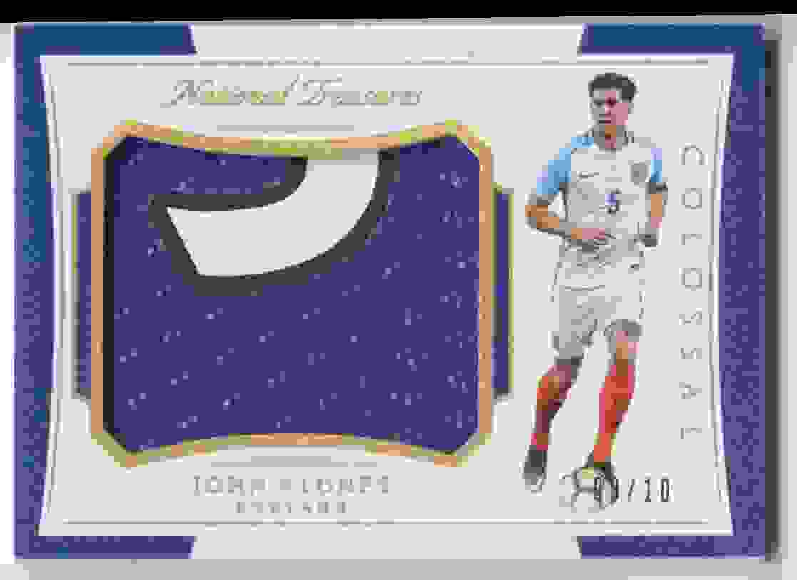 2018 Panini National Treasures Colossal Materials Gold John Stones #CO-JS card front image