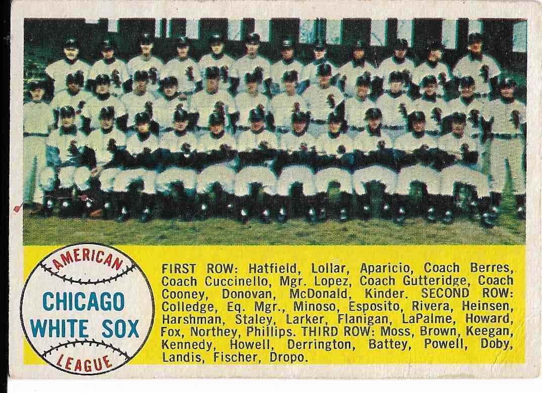 1958 Topps Chicago White Sox #256 card front image
