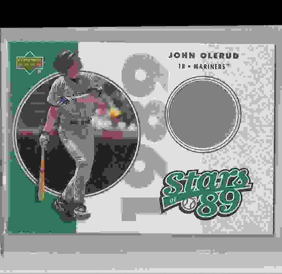 2002 UD Authentics Stars Of 89 John Olerud #SLJO card front image