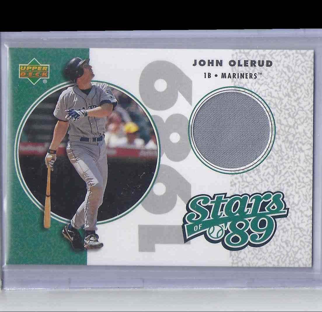 2002 UD Authentics Stars Of 89 John Olerud #SLJO card front image