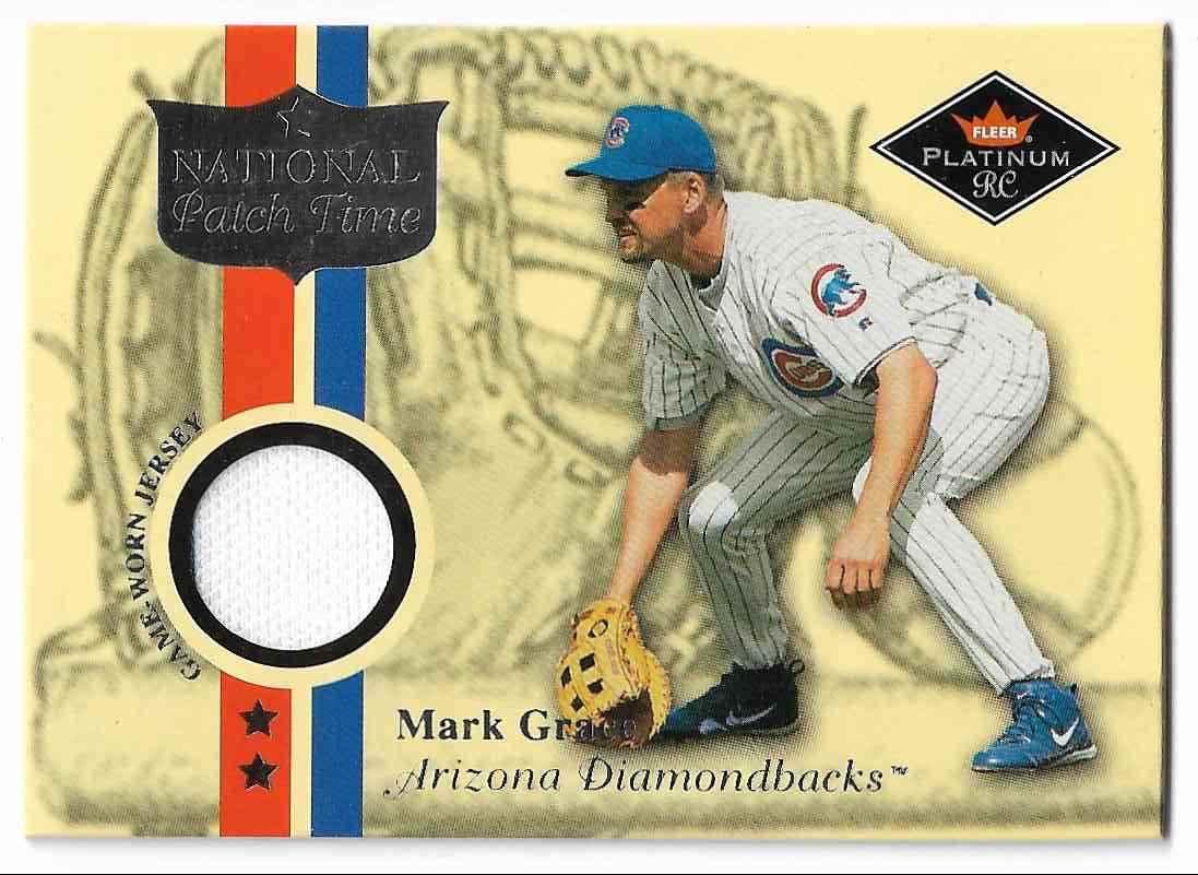 2001 Fleer Platinum Mark Grace #MAGR card front image