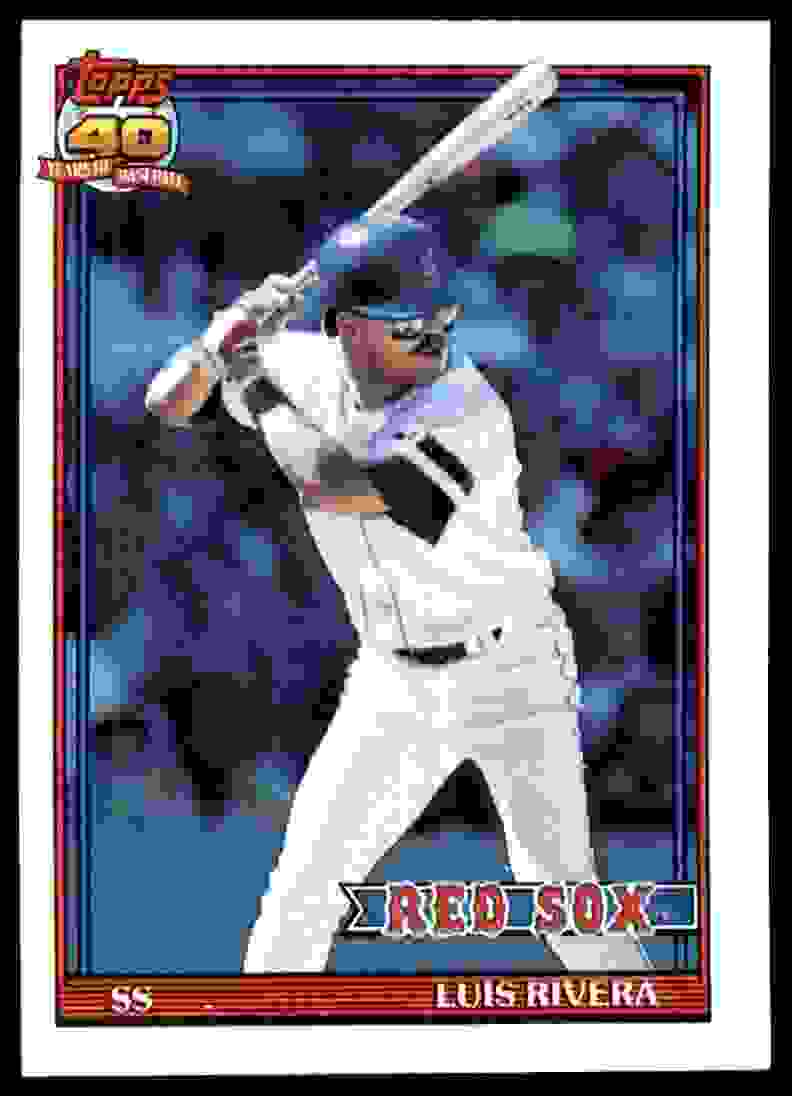 1991 Topps Luis Rivera #338 card front image
