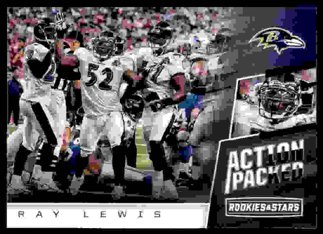 2017 Rookies And Stars Action Packed Ray Lewis #5 card front image