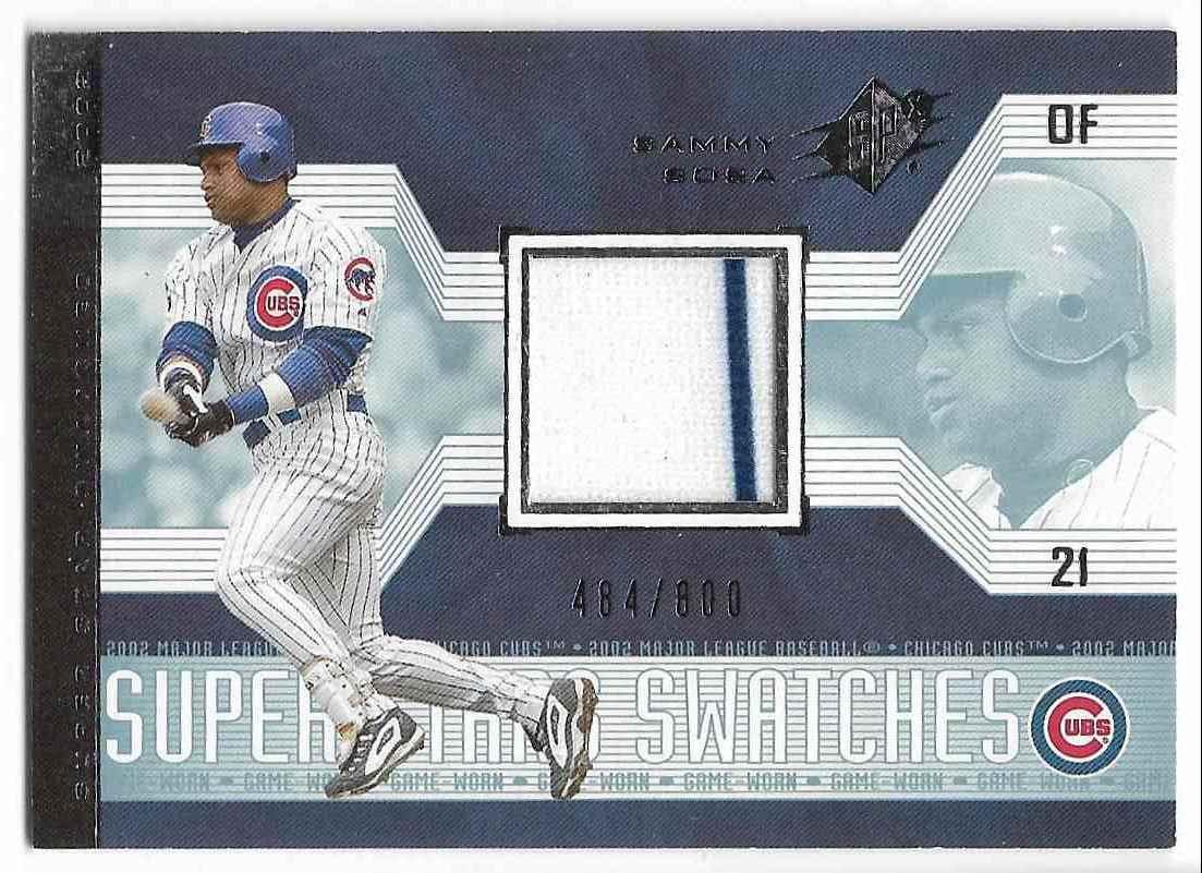 2002 Upper Deck SPx Sammy Sosa #177 card front image