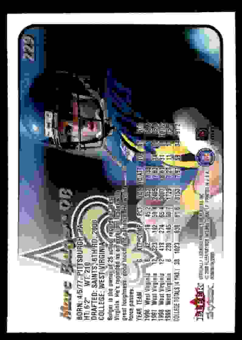 2000 Dominion Marc Bulger #229 card back image