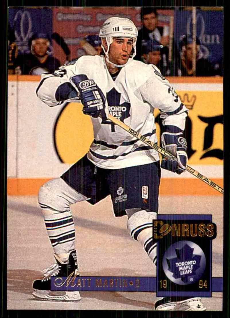 1993-94 Donruss Matt Martin RC #497 card front image