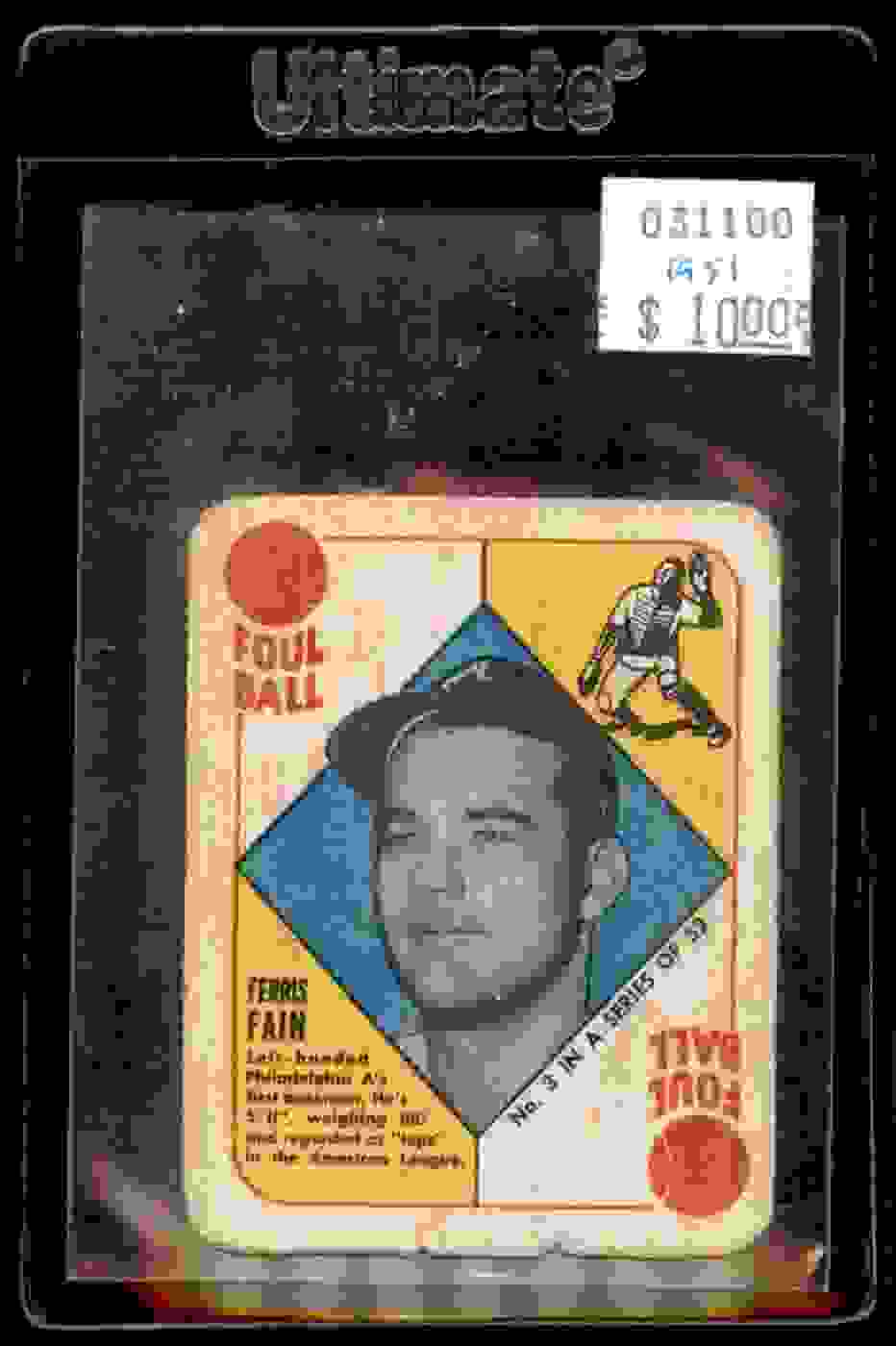 1951 Topps Red Backs Ferris Fain #3 card front image