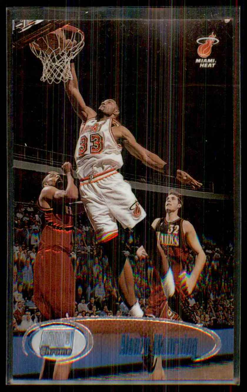 1998-99 Stadium Club Chrome Alonzo Mourning #SCC1 card front image