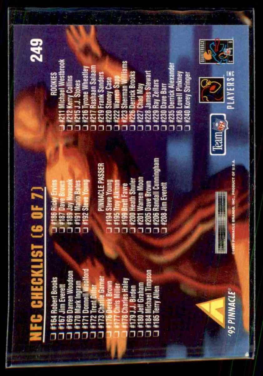 1995 Pinnacle Barry Sanders #249 card back image