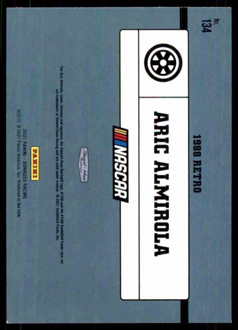 2021 Donruss Aric Almirola Retro #134 card back image