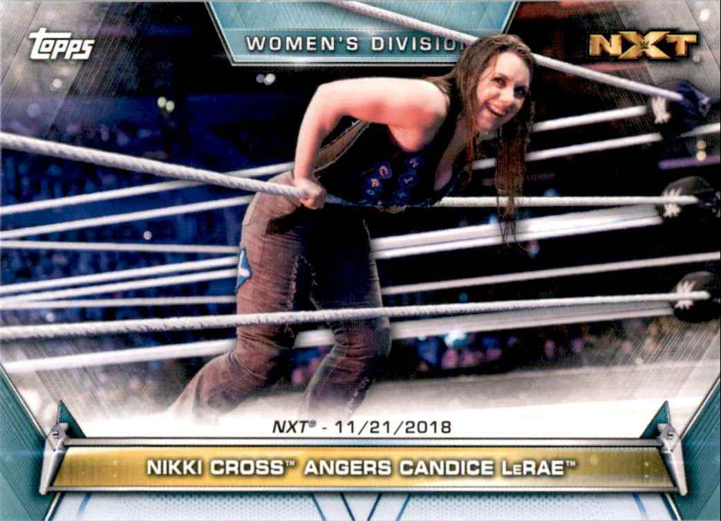 2019 Topps Wwe Women's Division Nikki Cross Angers Candice LeRae #91 card front image