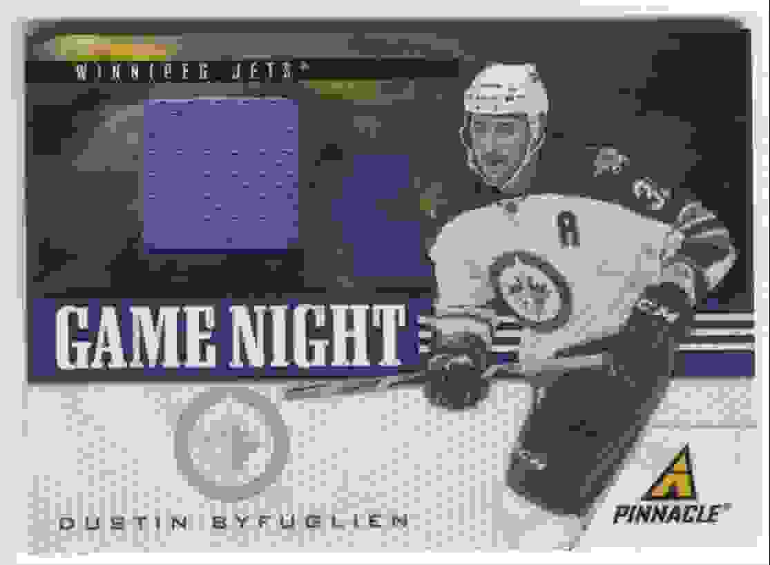 2011-12 Pinnacle Game Night Materials Dustin Byfuglien #36 card front image
