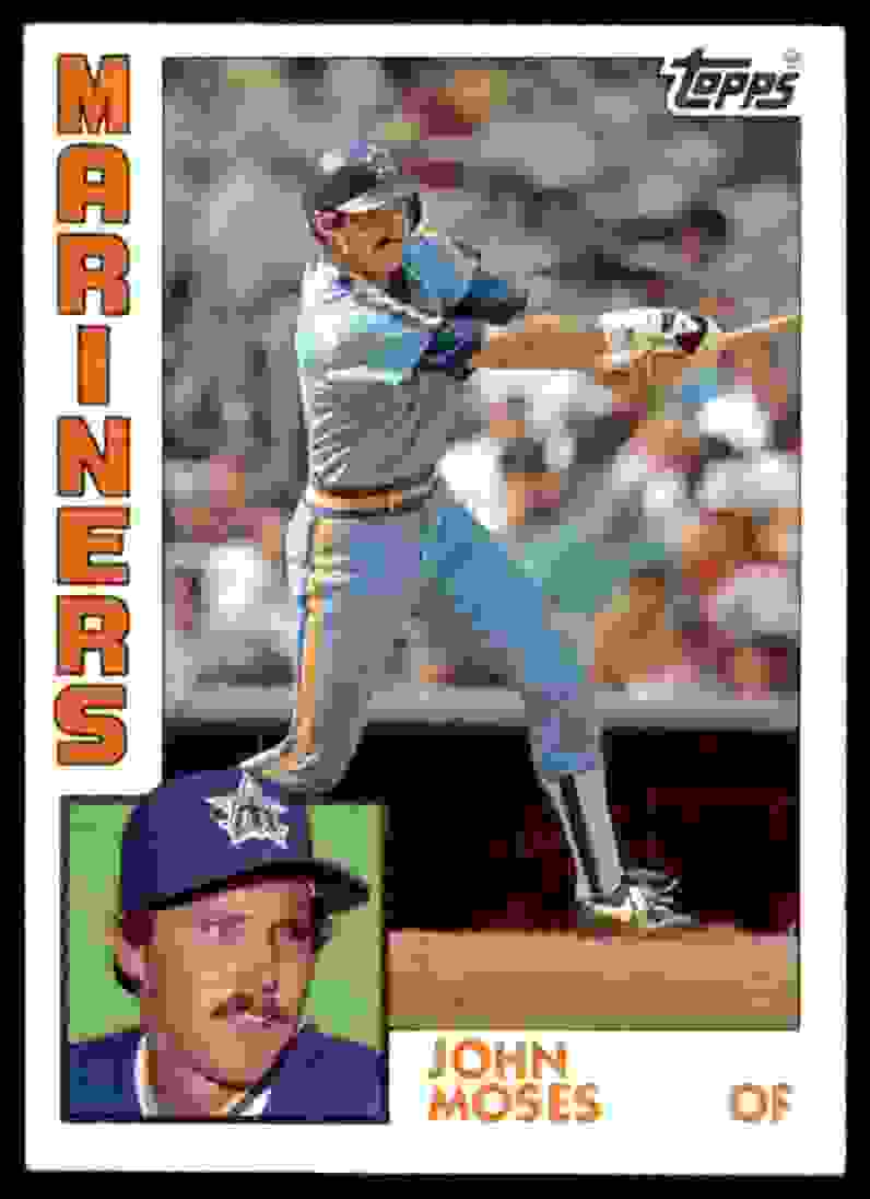 1984 Topps John Moses #517 card front image