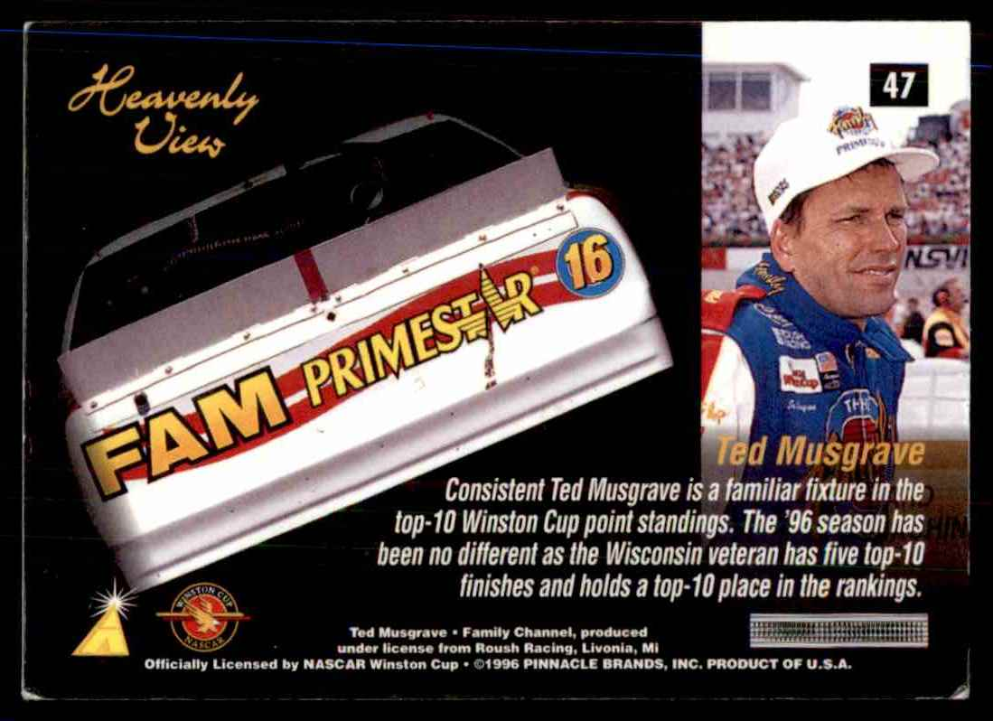 1996 Zenith Ted Musgrave's Car Hv #47 card back image