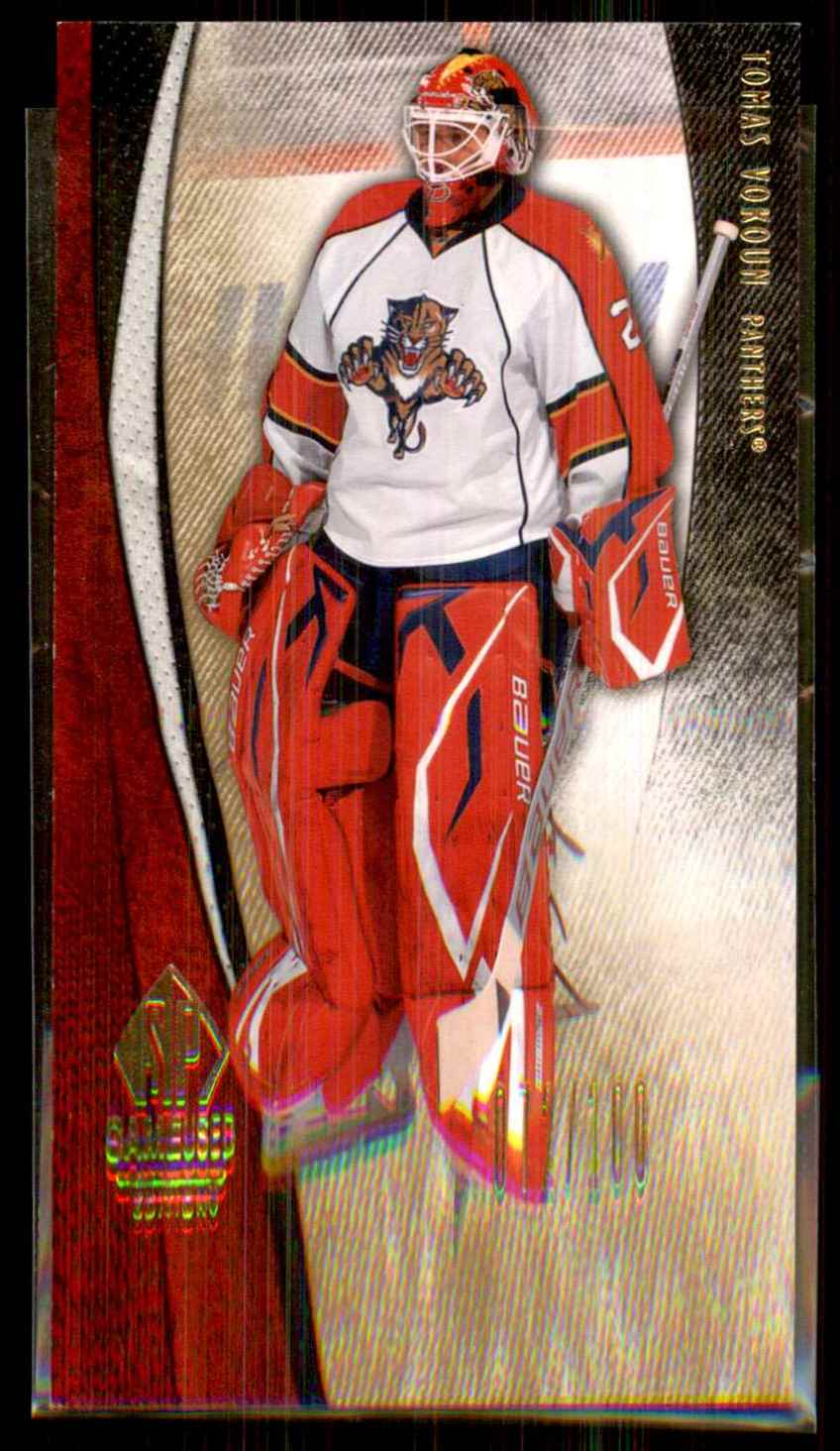2010-11 SP Game Used Gold Tomas Vokoun #41 card front image
