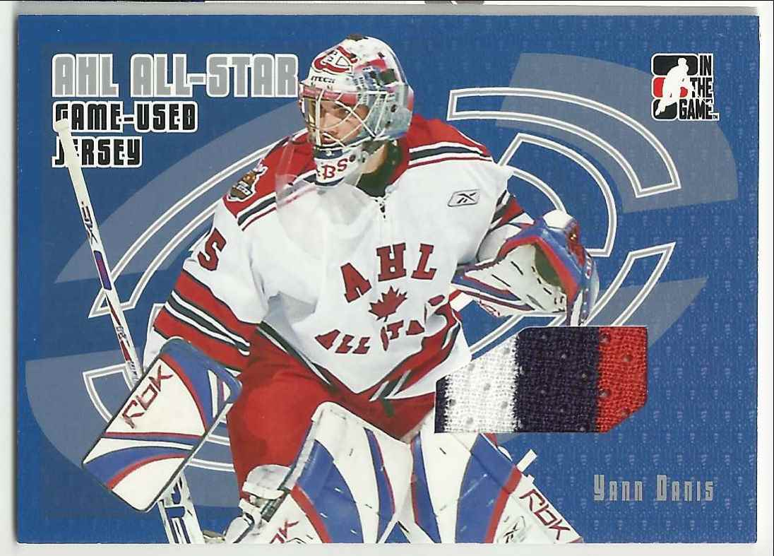 2006-07 In The Game Heroes And Prospects AHL All-Star Jerseys Yann Danis #AJ-05 card front image