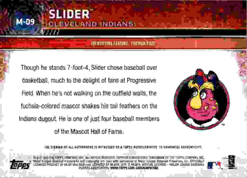 2015 Topps Opening Day Mascots Slider #M-09 card back image
