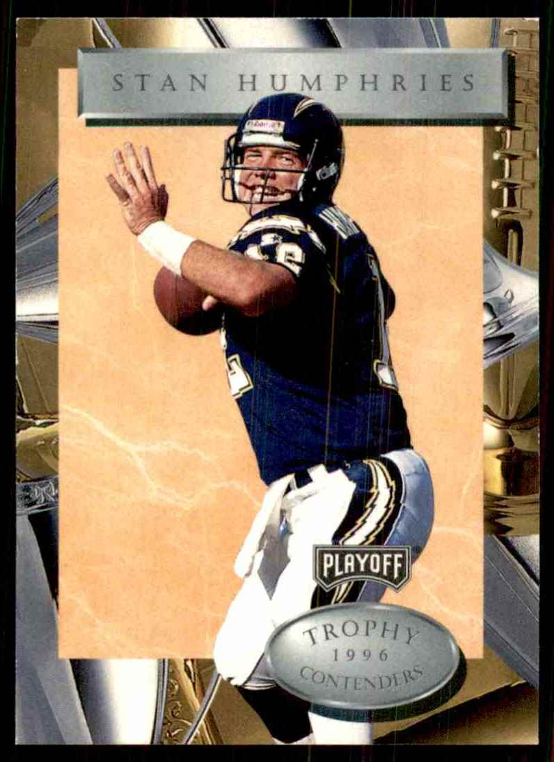 1996 Playoff Trophy Contenders Stan Humphries #37 card front image