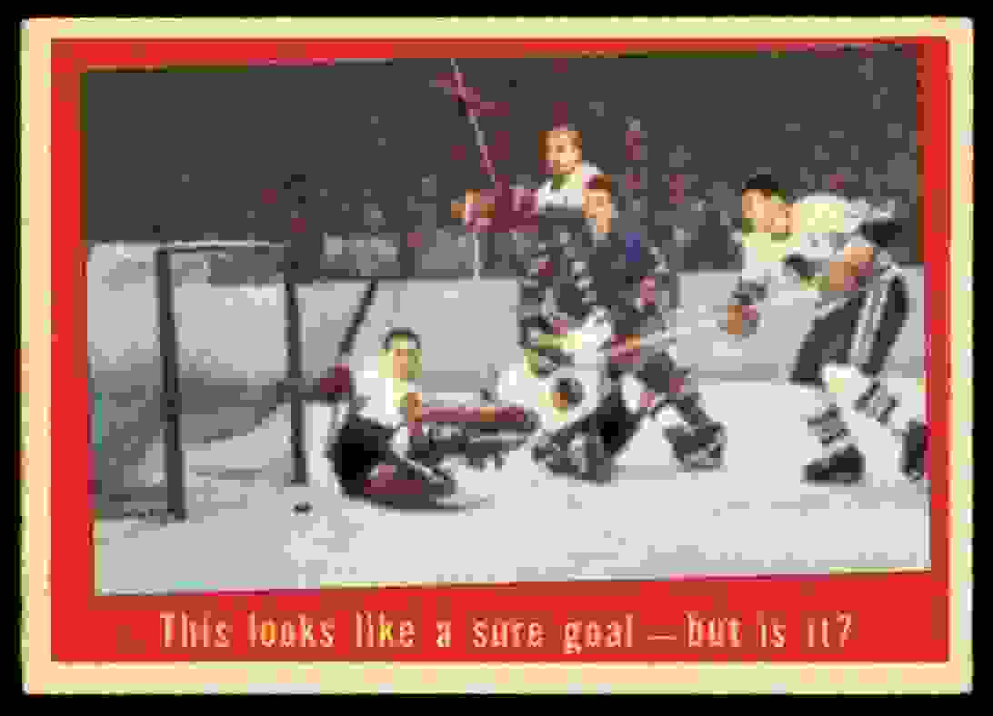 1959-60 Topps This Looks Like A Sure Goal (B) #28 card front image