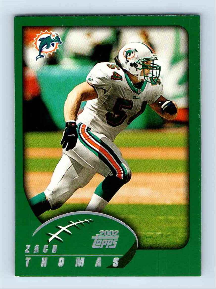 2002 Topps Zach Thomas #74 card front image