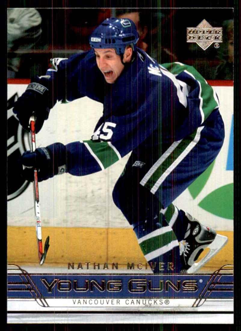 2006-07 Upper Deck Nathan McIver Yg RC #493 card front image
